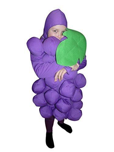 Ikumaal SY18 134 Weintraube-Kostüm für Kinder, Fasching Karneval