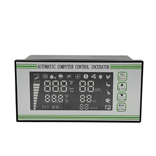 LIXUDECO Incubadora de huevos XM-18S Automática Incubadora de Huevos Controlador Termostato Temperatura Humedad Incubadora Sensor (Color: XM 18S, Tamaño: 220V)