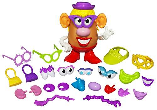 Hasbro Mr. Potato Señora - Juguete Maleta Diveritida Con 1 Potato y 35 Piezas Diferentes, Multicolor, Tamaño Clásico de 20 cm