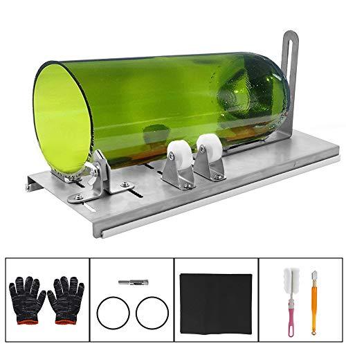 Kkmoon diy glas flaschenschneider einstellbare größen metall glasflasche schneidemaschine für handwerk weinflaschen haushaltsglas schneidwerkzeug