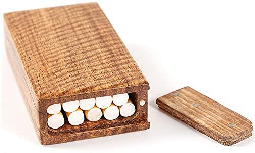 XIAOXIA Le costume pour homme est adapté pour les femmes creuses en bois massif pouvant contenir 10 cigarettes noires ultra minces en bois (couleur : marron)