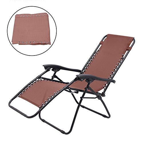 N/V - Funda de tela para silla reclinable y transpirable y duradera, tela de textileno, para tumbona de jardín, playa, 16043 cm