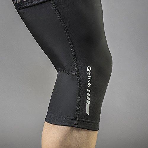 GripGrab Unisex Ganzjahres Radsport Knielinge l Extra rutschfeste und warme Kniewärmer für verbesserten Kälteschutz I Verschiedene Größen, Schwarz, S - 3