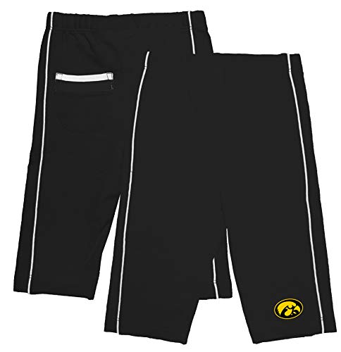 Two Feet Ahead NCAA College Infant Baby Boys Pants with Back Pocket (6 Months, Iowa Hawkeyes)