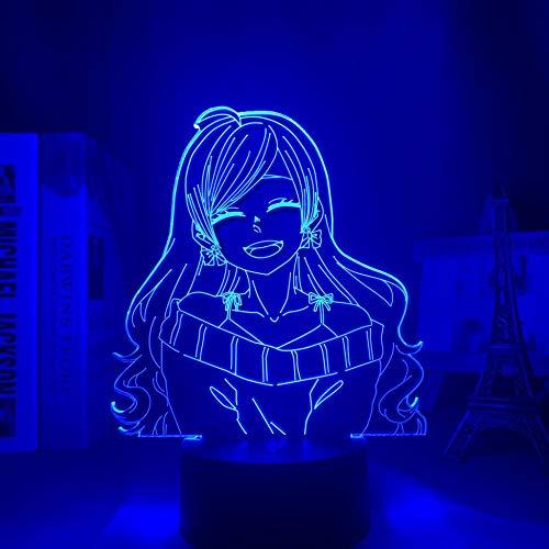MAOJIE - Lámpara de noche LED 3D con diseño de anime, otome miedo, para dormitorio, luz nocturna decorativa, regalo de cumpleaños o habitación