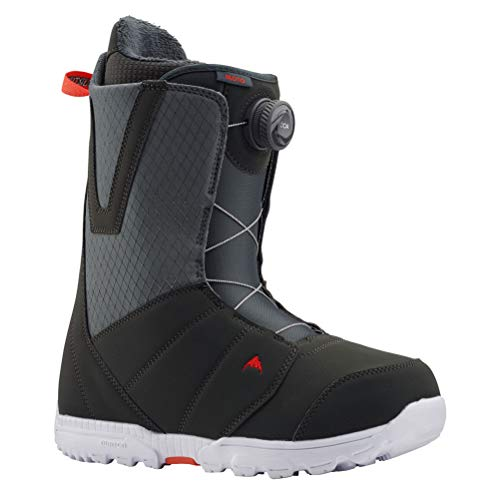 Burton Moto Boa Snowboard Boot - Men's Gray/Red, 10.5