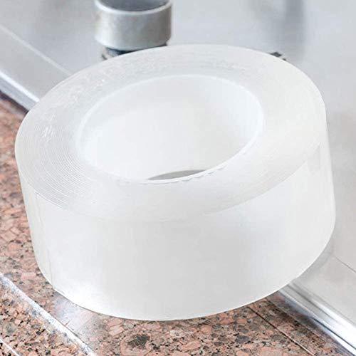 Tintvent Caulk Strip,Washable Adhesive Caulk Tape Self Waterproof Repair Tape for Bathtub Bathroom Kitchen Sink Basin Edge Shower Toilet Kitchen and Wall Mildew Sealing(2Inch Width x 33Feet Length)