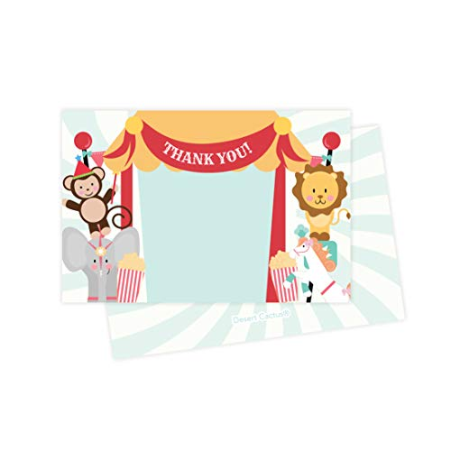 Carnival Birthday Thank You Cards (Pack of 25)