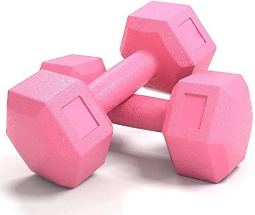 Hanteln Sechseckige Hanteln Für Männer Arm Training Damen Home Fitnessgeräte Abnehmen Und Formen Kunststoff Hantel(Size:3 kg,Color:Rosa)