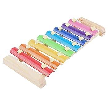 earlyad Poulet Xylophone Jouet 8 clés Poulet picorer Jouet poulailler picorer Jouet adapté pour Poule poulailler perroquets