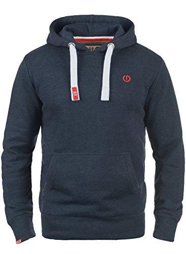 !Solid BennHood Herren Kapuzenpullover Hoodie Pullover mit Kapuze, Größe:L, Farbe:Insignia Blue Melange (8991)