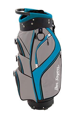Ben Sayers Unisex DLX Sacca da Golf, Grigio/Turchese, 21,6cm
