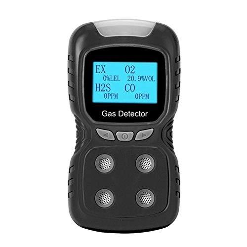 no-branded LCD 4 in 1 Toxic Gas Alarm Detector CO O2 H2S Sauerstoffmonitor USB aufladbare digitalen Gas-Detektor Gas Analyzer Meter XXYHYQHJD (Color : Schwarz, Size : Kostenlos)