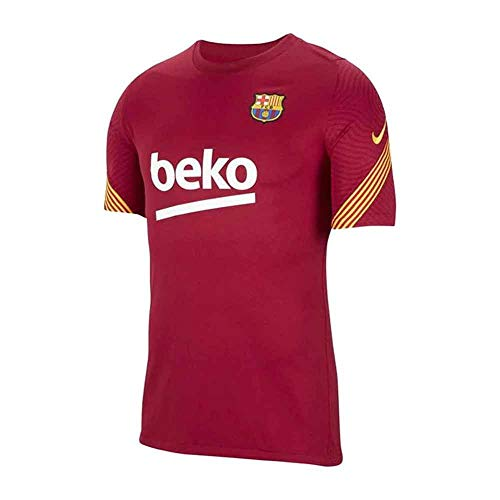 Nike 2020-2021 Barcelona Training Football Soccer T-Shirt Jersey (Noble Red)