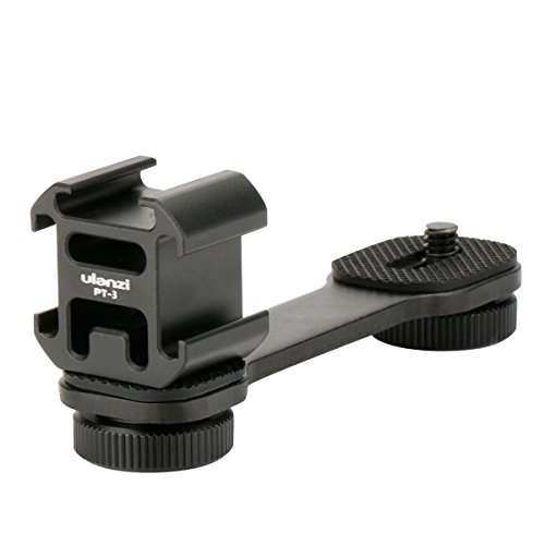 Wildhooy Verdreifachen Kalter Schuh Adapter Platte Erweiterung Klammer für Mikrofon Led Video Licht Kompatibel mit DJI OSMO Mobile 2 / Zhiyun Glatte 4 / Glatte Q/Feiyu Vimble 2 Gimbal Stabilisator