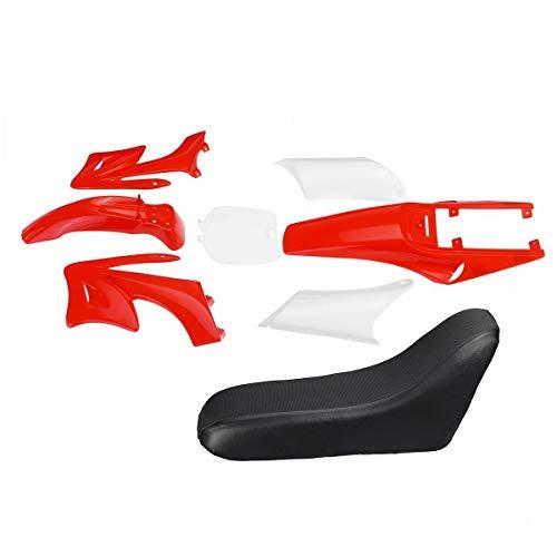 Verkleidung Motorhaube 8 stücke Kunststoffverkleidung Körper Kits Fit für 47 49cc Motor 2 Schlaganfall für Apollo Fit Für Orion Kids Schmutz Pocket Bike Minimoto Teile (Color : Red)