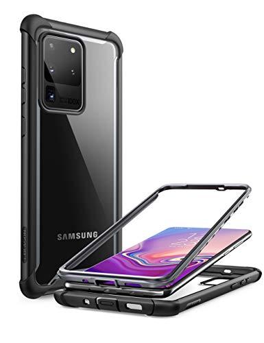 i-Blason Funda Galaxy s20 Ultra [Ares] Transparente Case Antigolpes Carcasa para Samsung Galaxy s20 Ultra Negro