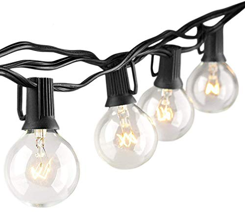 Guirnaldas luminosas de exterior, Prenine G40 Cadena de Luces 8m con 27 Vintage Edison Incandescentes IP44 Impermeable Perefcto para Fiesta,Boda,Jardín Patio Cafe