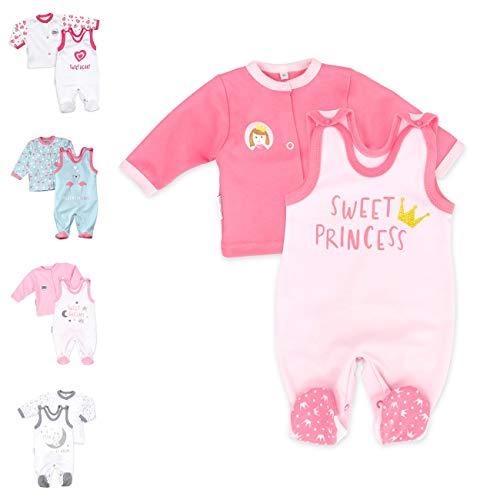 Baby Sweets 2er Strampler Set & Shirt für Mädchen und Jungen Verschiedene Größen, Rosa - Sweet Princess, 6 Monate (68)