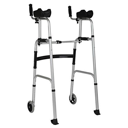 NADAENW Walker Doppio Uso Deambulatore Walker Braccio Anziano Supporto Regolabile per disabili Dispositivo Fitness Walker