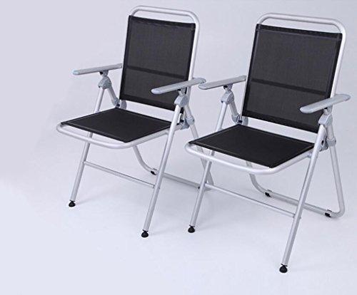Cdblchandelier Chaise pliante Espace chaise pliante en aluminium Chaise longue Chaise de salle à manger Chaise de dossier A Ensemble de 2 Chaise pliante