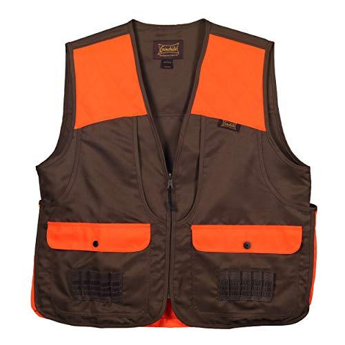 Gamehide Upland and Dove Lightweight Hunting Vest (Orange/Dark Brown, Medium)