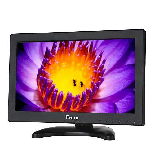 Eyoyo 12インチ TFT LCD CCTV HDMI HD モニター カラー スクリーン AV/HDMI/BNC/VGA 機能付き カー DSLR & PC & DVD & カー バックアップ カメラ対応(リモコンなし)
