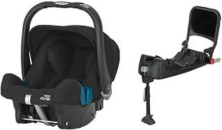 Britax Römer Baby-Safe Plus SHR II, Babyschale Set Gruppe 0 Geburt - 13 kg, Kollektion 2019, inkl. Isofix-Station, cosmos black