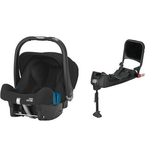 Britax Römer Baby-Safe Plus SHR II, Babyschale Set Gruppe 0+ (Geburt - 13 kg), Kollektion 2019, inkl. Isofix-Station, cosmos black