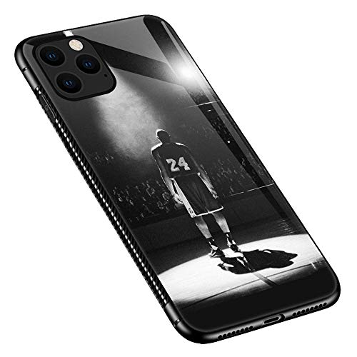 iPhone 11 Case,Player in The Spotlight Basketball iPhone 11 Cases for Boys GirlsFor Girls Boys,Pattern Design Shockproof Non-Slip Tempered Glass Case for Apple iPhone 11