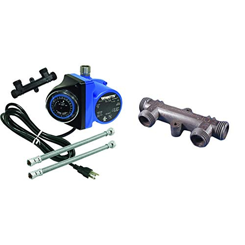 Watts Premier Instant Hot Water Recirculating Pump System with Built-In Timer & Grundfos 595926 VALVE, BLACK