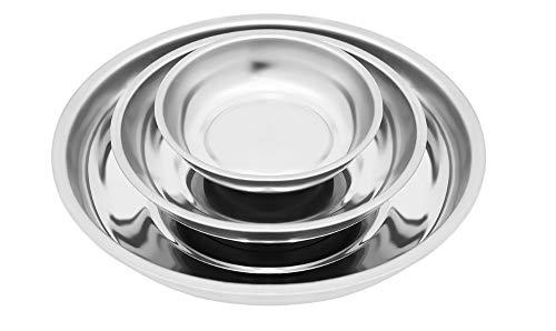 ISO TRADE Magnetschale Set 3 TLG. Schrauben Muttern Rund Edelstahl Magnetisch Kein Rost 6671