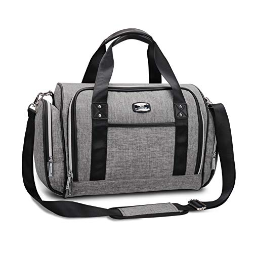 Diaper Bag Tote - Hafmall Multi-function Large Convertible Travel Baby Bag for Boys and Girls (Gray)