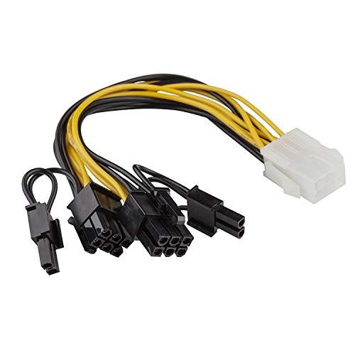 adaptare 36052 Grafikkarten-Stromadapter (PCI-e, 6-polig weiblich auf 2X 6+2-polig Stecker)