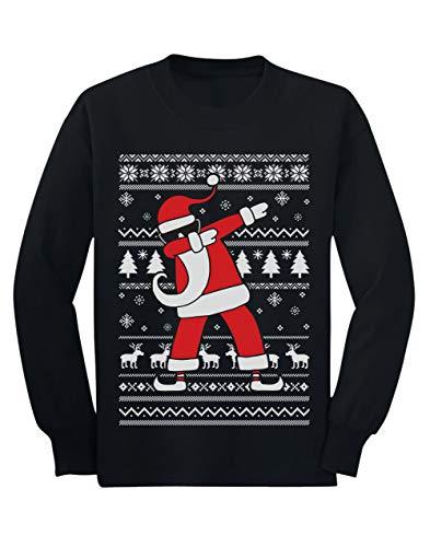 Camiseta de Manga Larga para niños - Regalos Navidad Niños - Dabbing Santa - 12/13 Años 152cm Negro