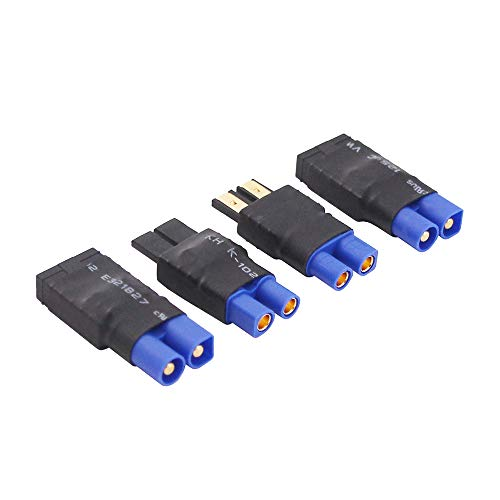 OliRC 4pcs Compatible with TRX to EC3 Style Male Female RC Connector Adapter(C153-4)