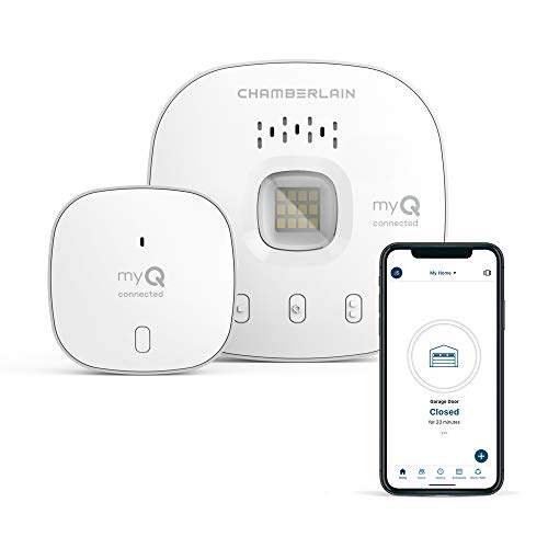 myQ Chamberlain Smart Garage Door Opener - Wireless & Wifi garage hub with Smartphone Control, New Model- myQ-G040