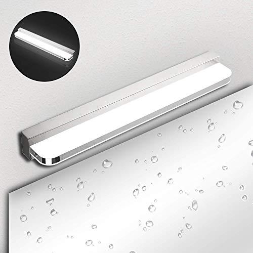 Lámpara de Espejo Baño LED IP44 Ketom 9W 600LM Aplique Espejo LED Blanca Neutra 4000K LED Lámpara de espejo, Lámpara de Pared Espejo de Acero Inoxidable Para Maquillaje, Espejo, Baño, 42cm