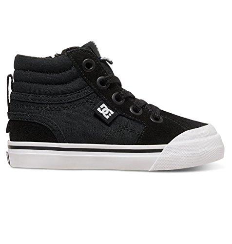 DC DC Boys' Youth Evan Hi Skate Shoes Sneaker, Black, 5 M US Toddler