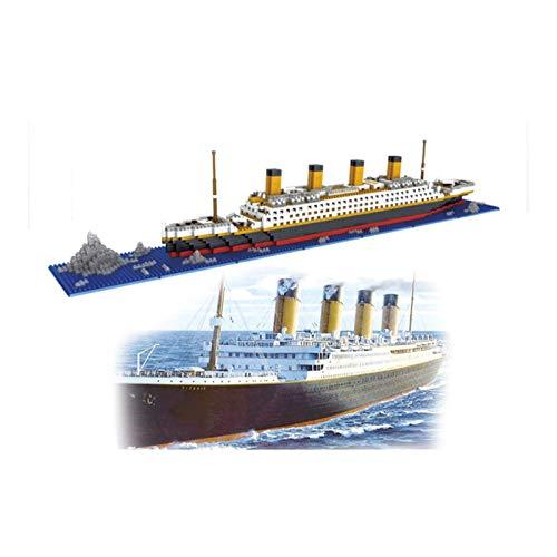 AKAMAS Micro Mini Bloques Buque Titanic Building Set, 1860 Piece 3D Puzzle Modelo DIY Juguete Educativo, Regalo para Adultos y niños Baibao