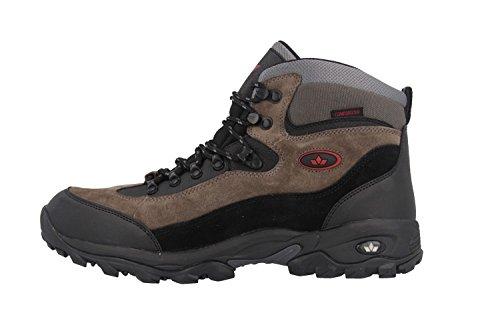 Lico/trekkingstiefel-Homme-Noir/Gris/Rouge à Matelas Grande Tailles de Chaussures - - Schwarz/Grau/Rot, M EU