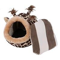 かわいい小動物ペットラットハムスターリスヘッジホッグ冬暖かいぬいぐるみケージハウスネストハムスターアクセサリーキリンスタイル (XL)