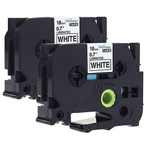 2x Premium kompatible Schriftbänder für Brother TZE241 Schwarz auf Weiß Easy Pri