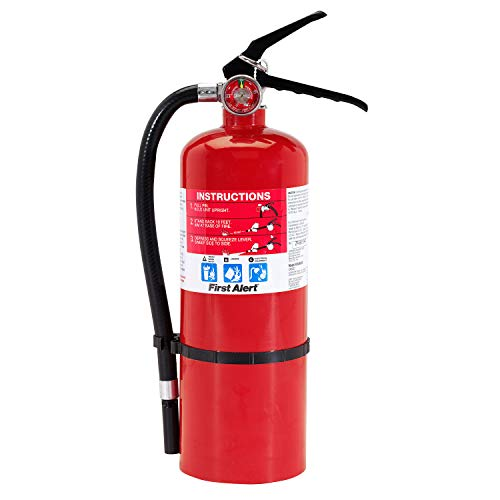 First Alert PRO5 Rechargeable Heavy Duty Plus Fire Extinguisher, Red