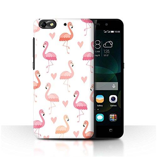 Stuff4® - Funda para móvil, diseño de flamencos Rosa Herzmuster Huawei G Play Mini