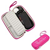 Caseling Hard Stethoscope Case Compatible with 3M Classic III, Lightweight II S.E, Cardiology IV Diagnostic, Includes ID Slot and Mesh Pocket for Nurse Accessories (Pink - Pu Leather)