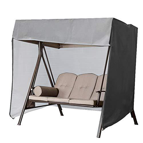 Cubierta para Muebles De Jardín, Funda Protectora Muebles Protección Exterior Muebles De Jardín Funda de Columpio, Impermeable, contra Polvo, para Patio, Dos Tamaños220*125 * 170cm-Gray