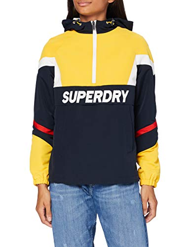Superdry Damen Colour Block Overhead Jacke, Gelb (Springs Yellow QLI), XL