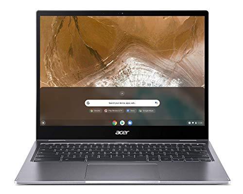 "Acer Chromebook Spin 713 - Portátil táctil convertible 13.5"" QHD (Intel Pentium Gold 6405U, 8GB RAM, 128GB eMMc, Intel UHD Graphics, Chrome OS) gris - Teclado Qwerty Español"