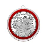 2021 St. Nicholas' Toy Delivery Silver Coin in Ornament Holder and Red Velvet Gift Bag - Uncirculated